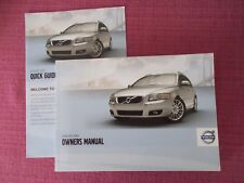 VOLVO V50 (2012 MODEL YEAR) USER MANUAL - OWNERS GUIDE - HANDBOOK.  (SHOB 92)
