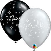 15.2x27.9cm MAZEL TOV élégant éclat Ballons En Latex (Qualatex) Fête/Décoration