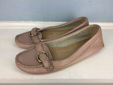 J Crew 6 pink driving moc loafer Career Casual Leather