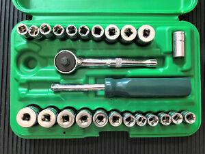 SK  Tool 91824 1/4-Inch Drive 24-Piece Semi-Deep Socket Set Ratchet & Driver NEW