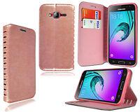 para Samsung Galaxy J3 2016 j320p NUEVO ESTILOSO FUNDA DE CUERO Tipo Libro +