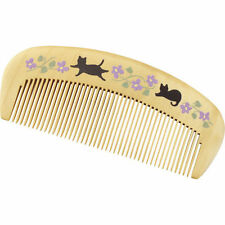 Boxwood Comb Tsuge Hair Care Cat Camellia Oil 100% Nature Made In Japan New