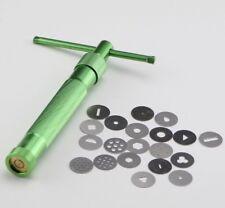 20 DISCHI Clay Fimo Extruder Craft Gun SCULTURA impasto torta Sugarcraft Decor Tool