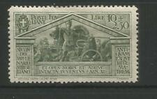"ITALY 1930  "" BIRTH OF VIRGIL"" SCARCE  SG 298 10LIRE +2.50  OLIVE FINE MINT"