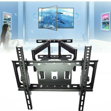 TV Wall Mount Bracket Full Motion Tilt Swivel Pivot Safe Articulating Dual Arm