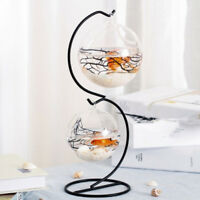 Hanging Glass Ball Candle Holder Candlestick Micro Landscape Vase 12cm_Round