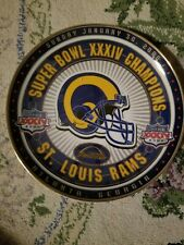 New listing collector-plates hunter super bowl xxxiv champions st. louis rams