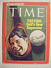 LEE TREVINO signed 1971 TIME magazine AUTO Autographed golf sports illustrated