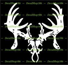 Deer Skull Rack - Hunting/Outdoor - Vinyl Die-Cut Peel N' Stick Decals/Stickers
