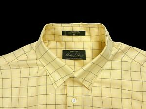 Orvis Signature Collection Men's XL Button Down Long Sleeved Yellow Check