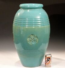 Huge Zanesville Art Deco Urn Pottery Arts & Crafts Oil Jar Floor Garden Vase 24""