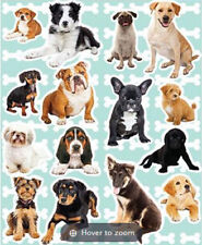 DOGS  wall stickers 15 decals room decor nursery PUPPIES Yorkie Hounds Bulldog +