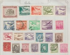 CHILE Collection Planes, Coat of Arms, Transport, etc as per scan, USED MH  #