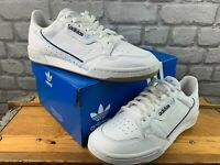 ADIDAS MENS UK 9 EU 43 1/3 CONTINENTAL 80'S WHITE BLUE NAVY TRAINERS RRP £100 C