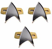 Star Trek Voyager / DS-9 Communicator Full Size Replica Pin Set of 3 Pins
