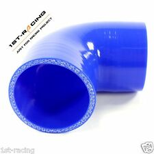 """6635 Silicone Hose Coupler 90 Degree Elbow 3"""" to 3"""",3 inch to 3 inch blue"""