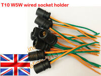 2x T10 W5W 501 Light Bulb Socket Holder  Soft Rubber - For Cars or Bikes