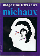 MAGAZINE LITTERAIRE N°85 1974 HENRI MICHAUX