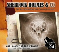 SHERLOCK HOLMES & CO-DIE KRIMI BOX 4 (3 CDS) DOYLE,ARTHUR CONAN   3 CD NEU