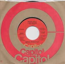 LINDA RONSTADT  When Will I Be Loved / It Doesn't Matter Anymore  original 45