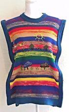 New listing Vintage Sz Med Embroidered Sweater Mushroom Boho Hippie Primitive Ethnic Fest