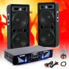 Party PA DJ Musik Beschallungs Anlage Bluetooth USB SD MP3 Verstärker Boxen