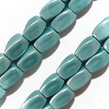 Magnetic Hematite Beads Turquoise Blue 4 Sided Twist 5x8mm Bead Strands P20A