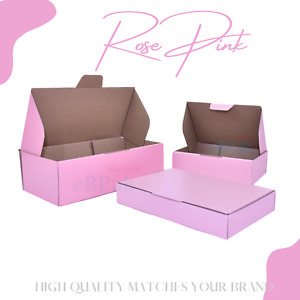 Rose Pink Mailing Box Cardboard Shipping Mailer Small Medium Large A6 A5 A4
