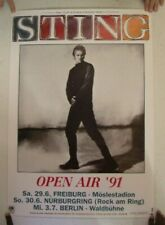 Sting Of The Police 1991 German Tour Poster Concert Gig