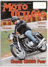 MOTOCICLISMO D'EPOCA 11 2013 - HONDA CB 350 - GILERA SIRIO 250 - BSA A75R ROCKET