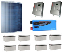 KIT SOLARE ISOLA 6KW FOTOVOLTAICO 48V INVERTER 6000W BATTERIA 400A GEL PWM 120A