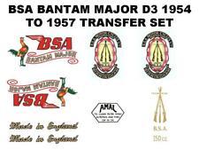 BSA Bantam D3 Major Transfers Decals Set DBSA92 Classic Motorcycle