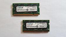 4GB 2x2GB Crucial PC2-5300 RAM Speicher DDR2 DIMM 667MHz 200pin Notebook Laptop
