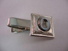 Vintage Mens Tie Bar Jewelry Clip Nice Hematite Like Design Sarah Coventry