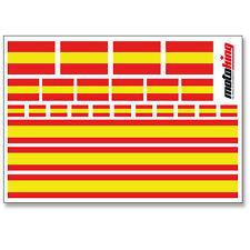 SPANIEN AUFKLEBER |  FLAGGEN STICKER | HELM FAHRRAD MODELLBAU BOBBYCAR AUTO
