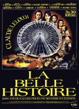 La belle histoire Claude Lelouch vintage movie poster