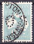 Australia 1929 Kangaroo 1/- Emerald SMW Perf OS Used