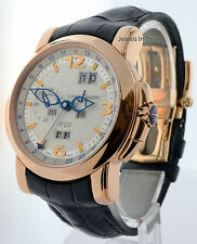 Ulysse Nardin GMT Perpetual 18k Rose Gold Mens Automatic Watch Box/Papers 322-66