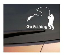 Go Fishing White High Quality Car Styling Sticker Water Proof Vinyl Car Decals