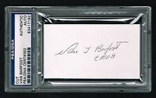 Van Barfoot d. 2012 signed autograph cut WWII Army Medal of Honor PSA Slabbed