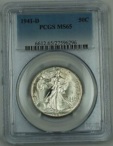 1941-D Walking Liberty Silver Half Dollar, PCGS MS-65, New Holder