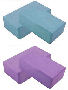 "x2 Yoga Pilates EVA Foam Block Brick Stretch Exercise Rehab Gym 3"" x 6"" x 9"""