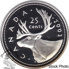 Canada 2003 Silver 25 Cents Proof Heavy Cameo