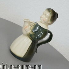 edle Erphila Porzellan Figuren Kaffee Kanne alte Bäuerin Art Dèco 40er Jahre USA