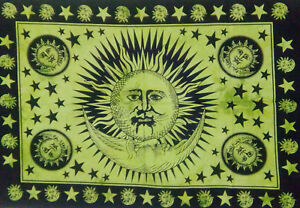 Wonderful Sun Moon Face Design indian Wall Hanging Small Tapestry Poster Indian
