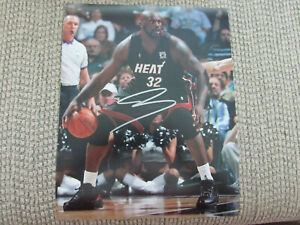 Shaquille O'Neal Miami Heat 8x10 Photo Signed