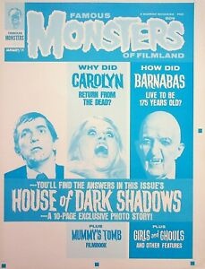 Famous Monsters of Filmland #82 Publishing Master DARK SHADOWS Cover Proof #WA