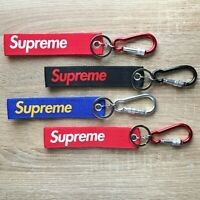 SUPREME Logo Keychain  KEYRING Carabiner Key Fob Wrist Pants Backpack Bag