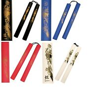 12 INCH HANDLES MARTIAL ARTS FOAM PADDED KARATE NUNCHUCKS WITH NYLON CORD