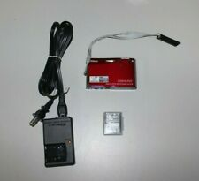 Nikon COOLPIX S60 10.0MP Digital Camera - Crimson Red W/ Charger - Tested